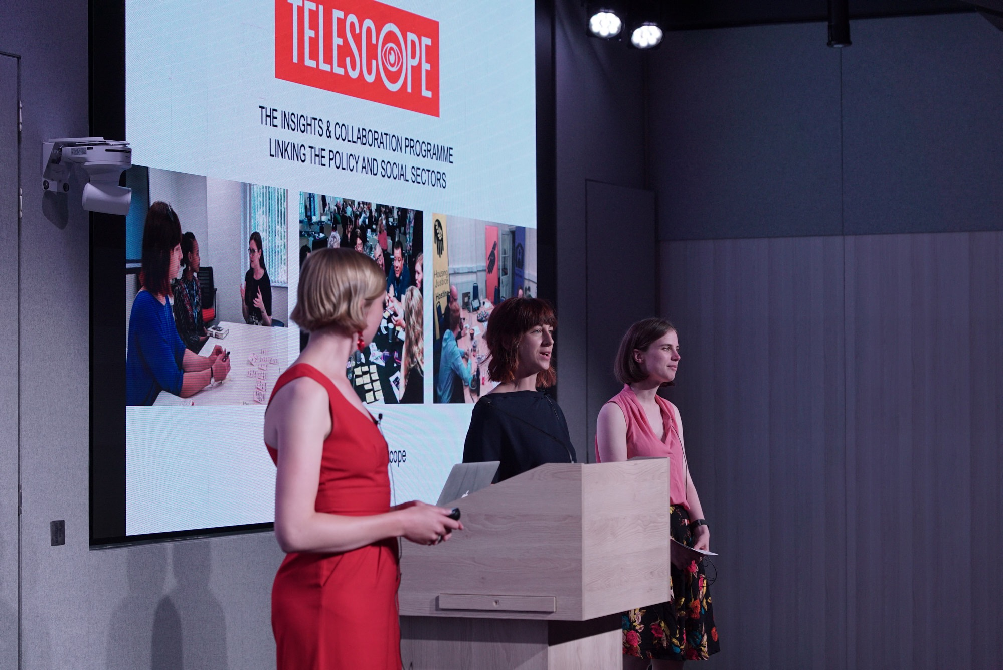 Pitch by Sarah Holliday, Ruth Martin and Hebe Foster at Telescope