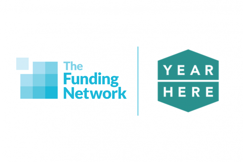 The Funding Network and Year Here logos